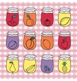 Set of doodle jars with jam Hand-drawn vector image vector image