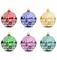 Set of six christmas balls