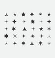 set stars and highlights star icon vector image vector image