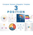 Set Templates Infographics positions 3 vector image