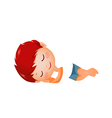 Side view of boy sleeping vector image