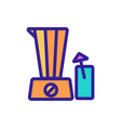 smoothie cocktail blender icon outline vector image vector image