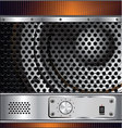 Speaker grill background vector image vector image