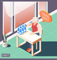 strong thirst isometric background vector image vector image