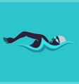 Swimming man swimming logo