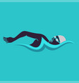 swimming man swimming logo vector image vector image