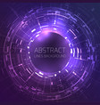 techno background with round frame for your text vector image vector image