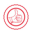 thumb up like vector image vector image