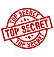 top secret round red grunge stamp vector image vector image