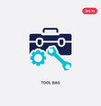 two color tool bag icon from construction concept vector image