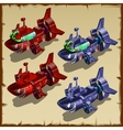 Two military submarines in the shape of shark vector image vector image
