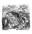 vintage drawing biblical story shepherds vector image