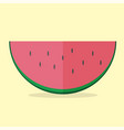 watermelon modern icon - flat style graphic vector image vector image