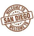 welcome to san diego vector image vector image