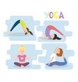 Women yoga exercises Yoga Poses set vector image