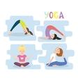 Women yoga exercises Yoga Poses set vector image vector image