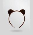bear mask vector image