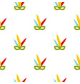 colorful carnival mask pattern seamless vector image