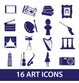 art icons set eps10 vector image