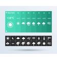 Weather Widget UI set of the flat design trend vector image