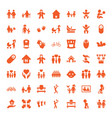 49 family icons vector image vector image