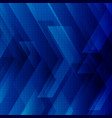 abstract blue tech background with big arrows vector image vector image