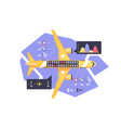 airplane with schemes flight vector image