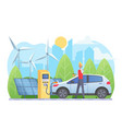 alternative energy sources flat vector image