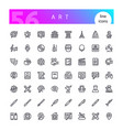 art line icons set vector image vector image