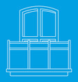 balcony icon outline style vector image vector image
