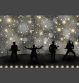 band show concept with yellow light and stars set vector image vector image