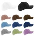 Baseball hats template vector image vector image