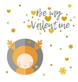 Be my Valentine greeting card Reindeer vector image