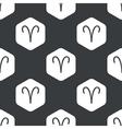 Black hexagon Aries pattern vector image