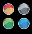 blank glossy badge or button vector image vector image