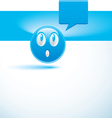 blue background with smiley vector image vector image