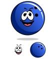 Blue bowling ball character vector image vector image