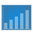 Blueprint bar graph vector image
