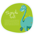 Border design with cute dinosaur vector image vector image