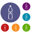 bottle of water icons set vector image vector image