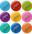 Buttons with zigzag arrows vector image