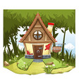 cartoon fairy house on the edge of forest vector image vector image