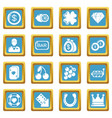 casino icons set sapphirine square vector image vector image