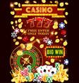 casino poker jackpot gambling games vector image vector image