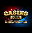 casino style glossy font vector image vector image