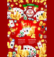 casinodice and poker games gold coins and chips vector image vector image