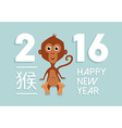 Chinese new year 2016 cute monkey cartoon vector image