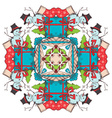 Christmas square snowflake vector image vector image