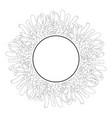 chrysanthemum outline flower banner wreath vector image