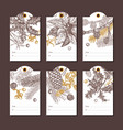 collection christmas and new year tags vector image vector image